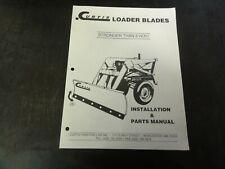 Curtis Loader Blades Installation Amp Parts Manual