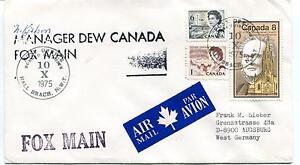 1975 Hall Beach Dew Canada Fox Main Polar Antarctic Cover SIGNED