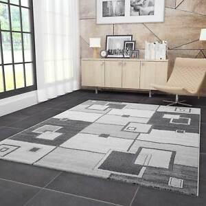 Das Bild Wird Geladen Teppich Wohnzimmer Modern  Design Kariert Retro Muster In