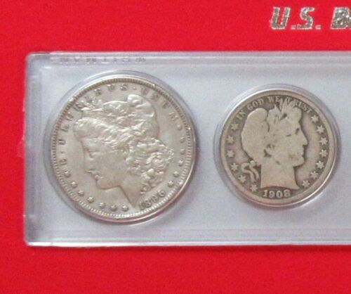 6pc Silver Barber Coin Set Gift Boxed Indian Cent to Morgan Dollar