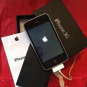 """iPhone 3G nero 8GB with ouwn box """"per uso ricambi anche se funziona come NUOVO"""""""