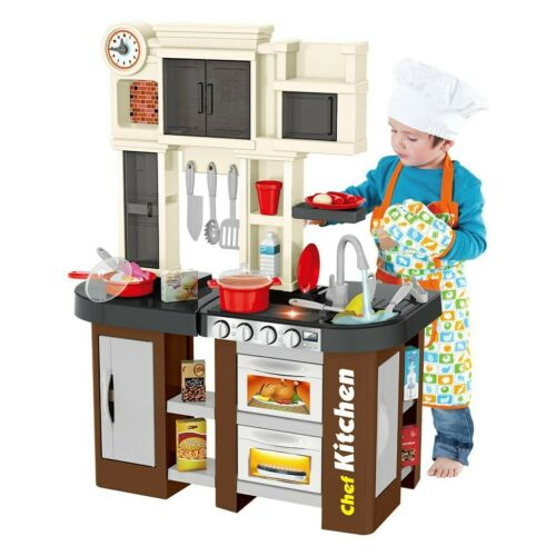 Kitchen Play Set For Kids Pretend Playset Baker Toy Cooking Toddler Girls Boys
