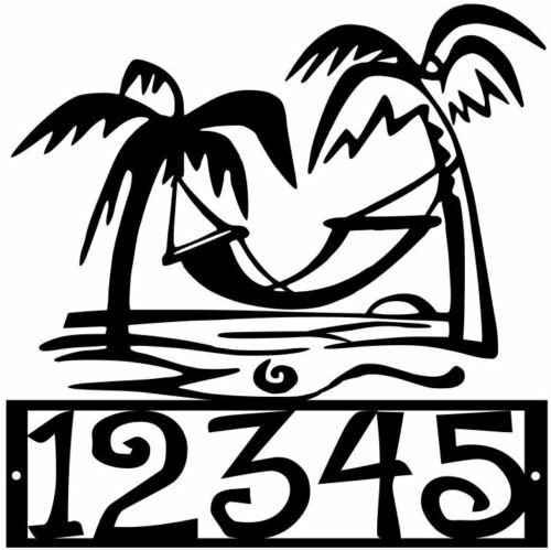 House Number Plaque Beach #20 Metal Sign Condo Address Sign