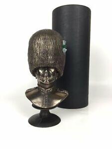 Welsh-Guard-Bust-Cold-Cast-Bronze-Military-Statue-Sculpture