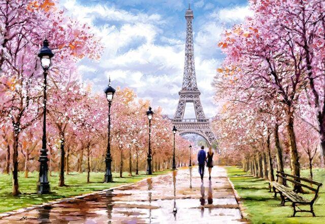 Puzzle De Paris 1000 Pièces Castorland 104369 Promenade Romantique En