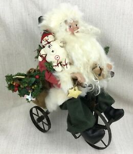 Christmas Decorations Handmade.Details About Vintage Christmas Decorations Handmade Father Christmas Figure Tricycle Santa