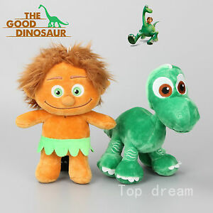 2015-The-Good-Dinosaur-Arlo-amp-Human-Spot-Plush-Toy-Soft-Stuffed-Doll-Kids-Gift