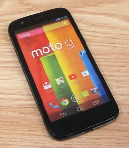 Motorola-Moto-G-Black-Smartphone-Style-Fake-Touch-Screen-Dummy-Phone-Only-READ