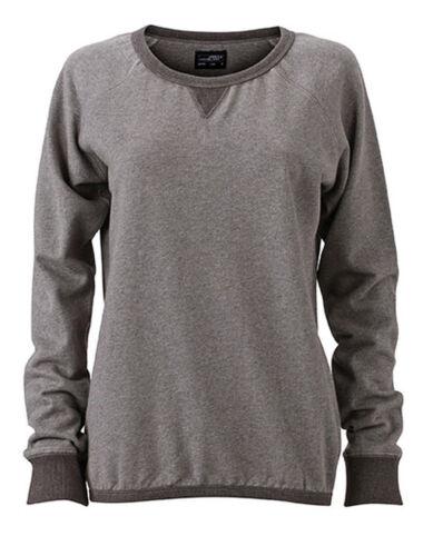 Damen Sweatshirt S M L XL XXL Sweater Pullover Pulli weiter Halsausschnitt