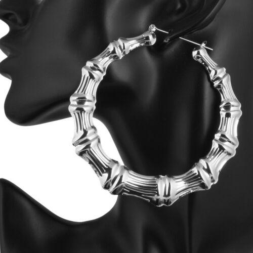 Round Charm Rond Bambou Creux Boucles D/'Oreilles Pendentifs Charm Bijoux Cadeaux