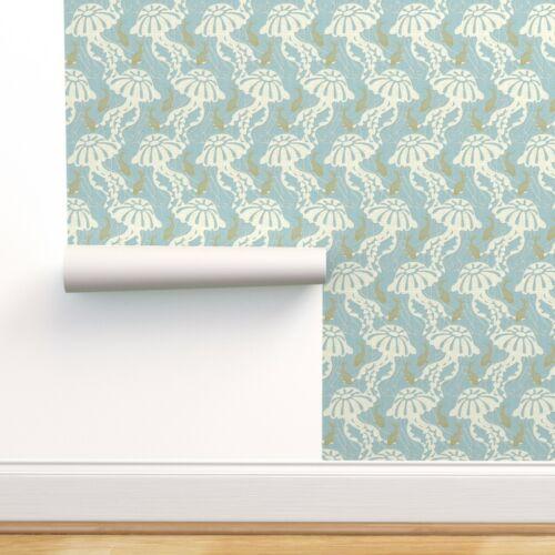 Peel-and-Stick Removable Wallpaper Nautical Ocean Sea Creature Texture Goldfish