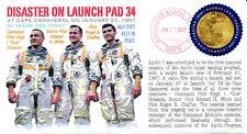 COVERSCAPE computer designed 50th anniversary of the Apollo 1 disaster cover