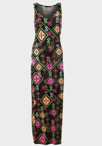NEW MAXI DRESS ladies womans long summer holiday 6 8 10 12 14 16 18 20 LOOK