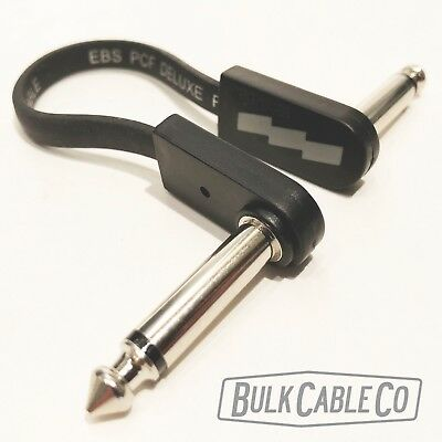 """EBS Flat Patch Cables 3.94/"""" PCF-DL10 Deluxe Thin RA//RA Cable 4/"""" 8 Pack"""