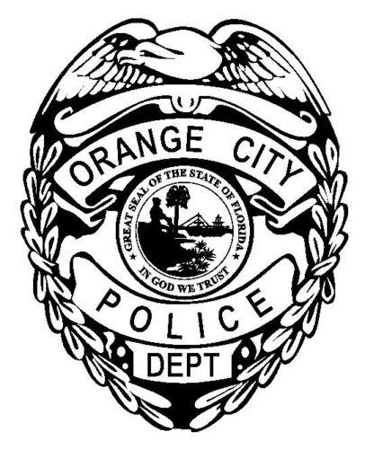 Orange City Police Sticker Decal R4862 Florida Police Department