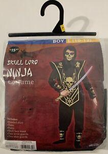 Ninja Costume Boys Costume Size 6 Brand New Black /& Gold Skull Lord S