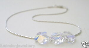 Anklet-925-Sterling-Silver-Made-with-Swarovski-Elements-Crystal-AB-Flower-Beads