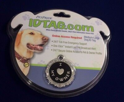 Analytisch I Heart / Love My Owner Medium-large Dog Id Tag Idtag.com Petpride