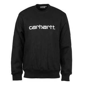 Schwarz Sweater Embroidery Carhartt Sweat Wip Pullover Herren Crewneck Script ZZXwg8