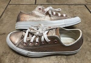 CONVERSE ALL STAR WOMENS SIZE 6.5 COPPER BRONZE METALLIC CHUCK TAYLOR SHOES