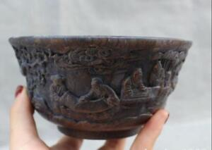 chinese-folk-old-Bamboo-ro-wood-carving-pine-tree-old-man-Playing-chess-bowl-cup