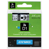 Dymo D1 High-performance Polyester Removable Label Tape 1/4 X 23 Ft Black On on sale
