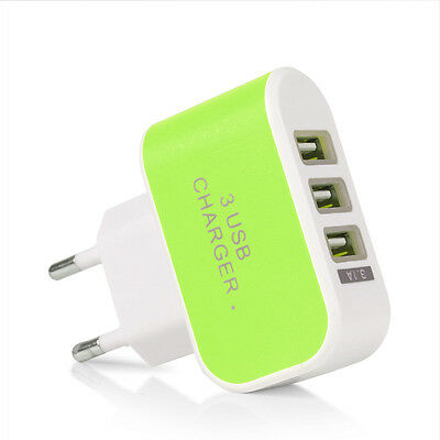 Universal Travel 5V 3.1A Port USB AC Wall Home Charger Power Adapter EU/US