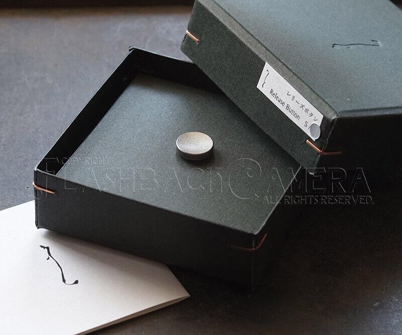 NANIGASHI Shutter Release Button URUSHI SILVER 銀漆 ' SMALL ' Japan Made #014685