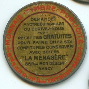 Timbre-Monnaie-Nancy-La-Menagere-10-Centimes-Rouge