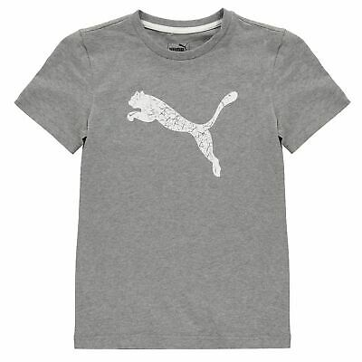 Puma Kids Boys Big Cat T Shirt Junior Crew Neck Tee Top Short Sleeve Lightweight