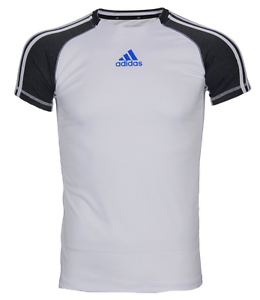 Adidas Youth Athletic Performance Climalite T-Shirt White Dark Gray