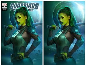 GUARDIANS-OF-THE-GALAXY-1-SHANNON-MAER-VIRGIN-amp-TRADE-SET-GAMORA-NM-OR-BETTER
