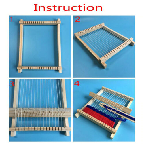 DIY Traditional Wooden Weaving Loom Craft Yarn Hand Knitting Machine Kids Gifts