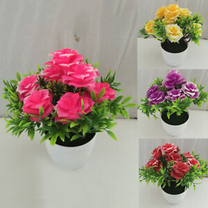 Am-BL-1Pc-Potted-Artificial-Flower-Stage-Garden-Wedding-Home-Party-Decor-Props