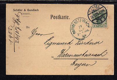 Postkarte Gut Ausgebildete A574# Deutsches Reich Schäfer&gundlach Cassel 26.09.1905 Frankiert