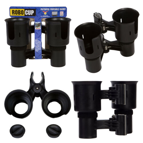 BLACK CADDY CUP DRINK BOAT FISHING POLE ROD HOLDER CASE STORAGE!!! * ROBOCUP *