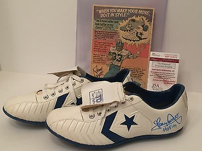 "Tony Dorsett Signed Vintage Converse Cleats Sneakers ""HOF 94"" *Shoes Cowboys JSA"