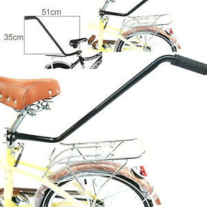 Kids Bike Learning Push Handle Safety Pole Bar Bicycle Control Grip Parent Grab