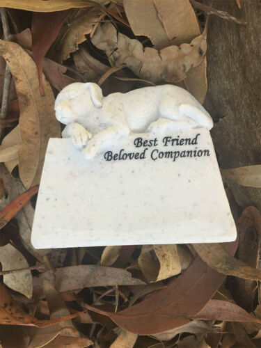 Pet Dog Memorial Stone Garden Remembrance Sculpture Kitty Engraved Figurine