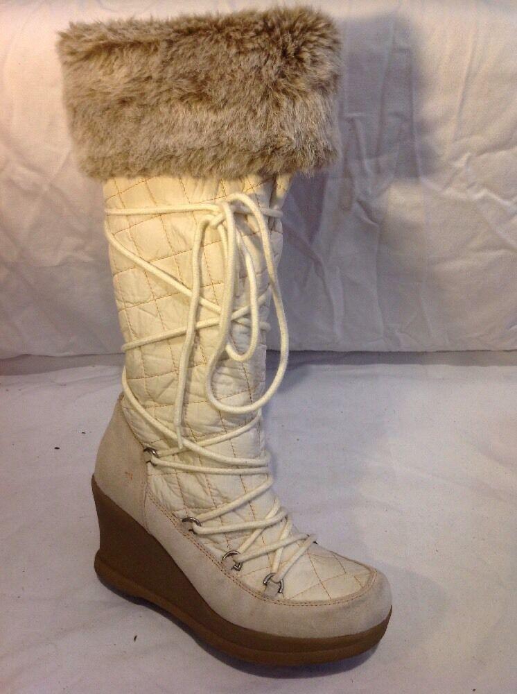 Aldo Grey&White Knee High Boots Size 39