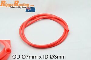 Silicone-Vacuum-Tube-RED-OD-7mm-ID-3mm-x-1000mm