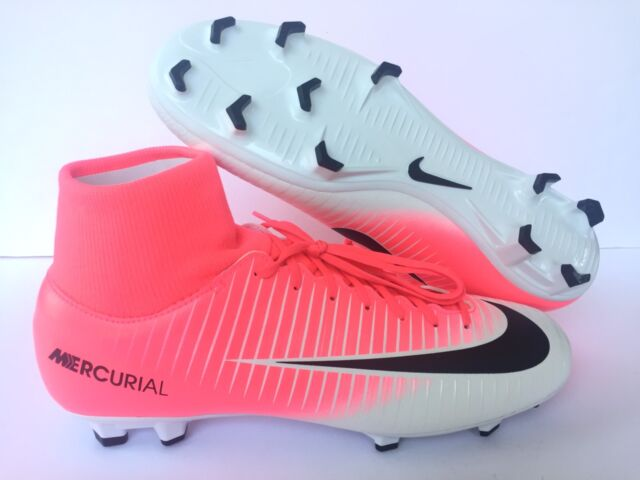 new style 71680 f2186 Sz 6 Nike Mercurial Victory VI FG Dynamic Fit Soccer White/pink/black  903609 601