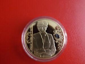 * La Princesse Diana * Médaille Pp Plaqué Or/couleur/gemme * Environ 40 Mm (kof5)-in *ca.40mm(kof5) Fr-fr Afficher Le Titre D'origine