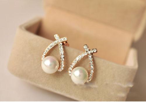 Stud Earrings Pearl Stud Earrings Silver Earrings Gold Earrings Bridal Jewellery