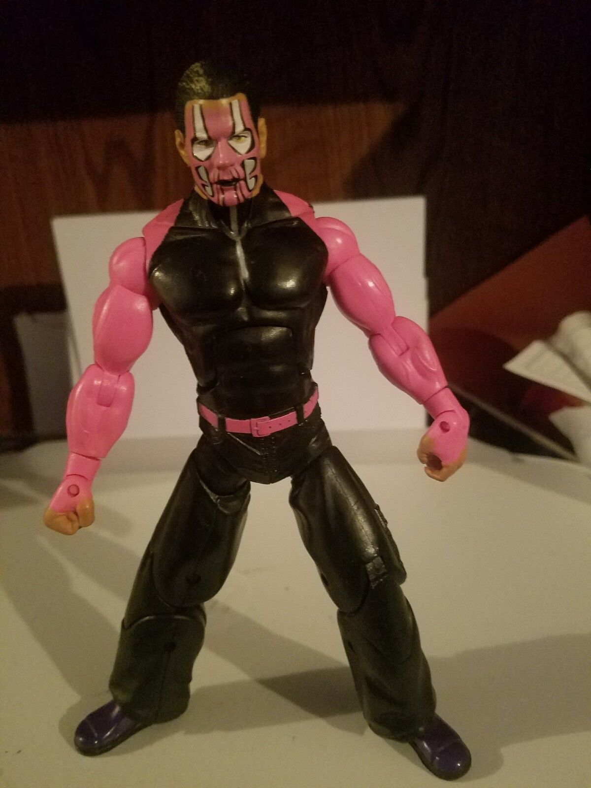 JEFF HARDY TNA DELUXE IMPACT JAKKS PACIFIC 7  FIGURE IN GOOD CONDITION WILLOW