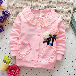 c06000d21efe Kids Baby Girls Tops Clothes Clothing Jacket Kids Girl Jackets Coat ...