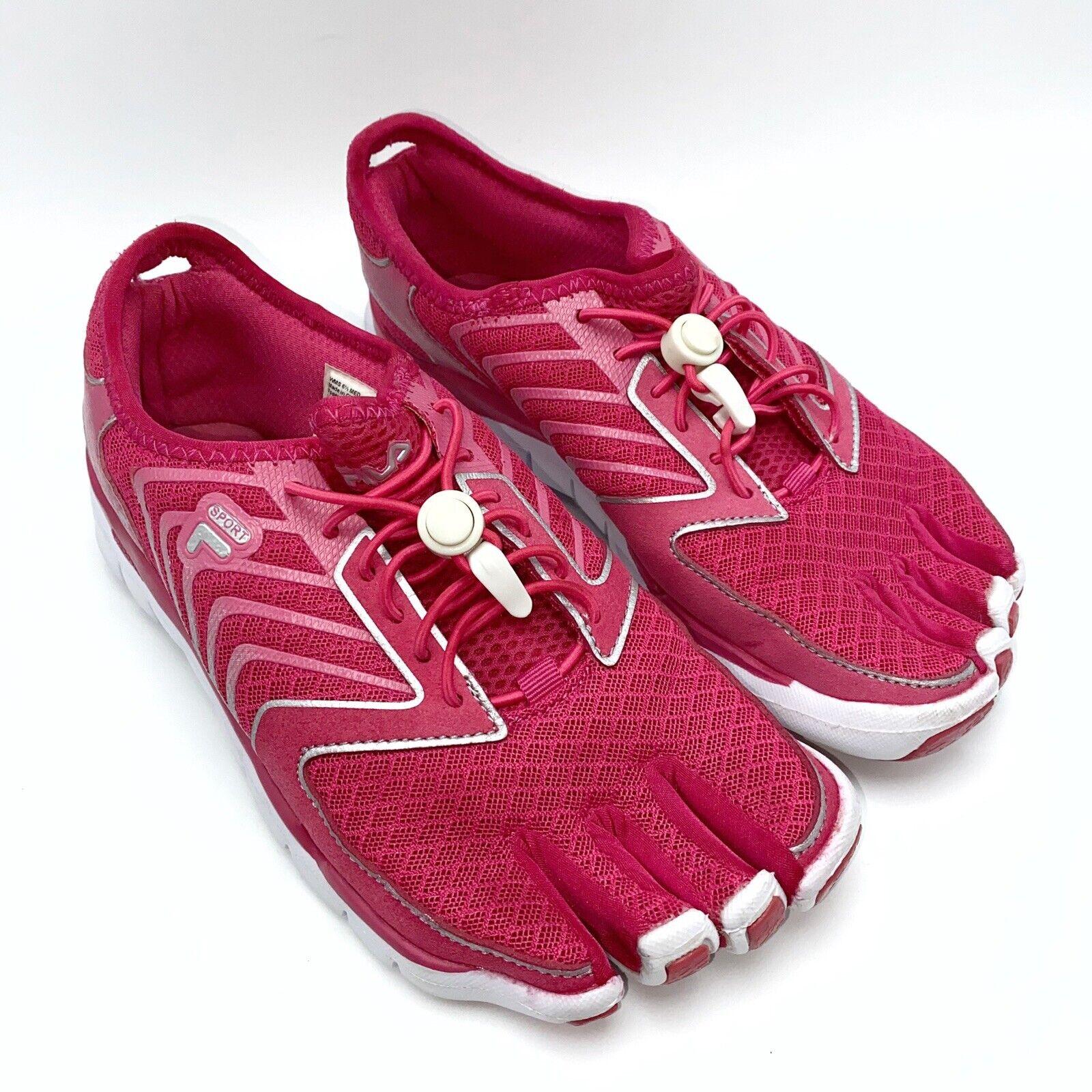 Fila Sport Skele-Toes Leap Rose minimaliste Slip-on Chaussure de course pour femme Taille 6.5 M