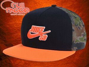 0ec3bba6589 Image is loading New-NIKE-SB-Chambray-Pro-Mens-Camo-Snapback-
