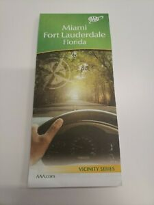 Florida Road Map 2017 AAA MIAMI / FT LAUDERDALE FLORIDA Travel Road Map Vacation Roadmap