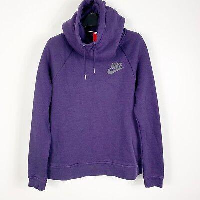 Nike Womens Sportswear Rally Funnel Neck Hoodie Sweatshirt Small Purple 828601 | eBay
